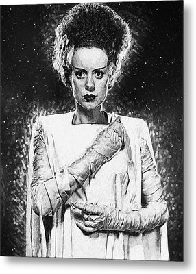 Bride Of Frankenstein Metal Print by Taylan Apukovska