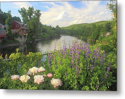 Bridge Of Flowers Shelburne Falls Metal Print by John Burk