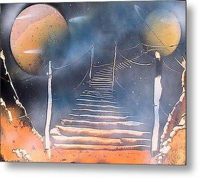 Bridge To Space Metal Print by My Imagination Gallery