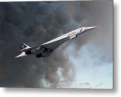 British Airways Concorde Metal Print