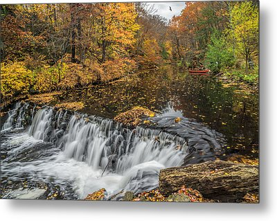Bronx River Waterfall Metal Print by June Marie Sobrito