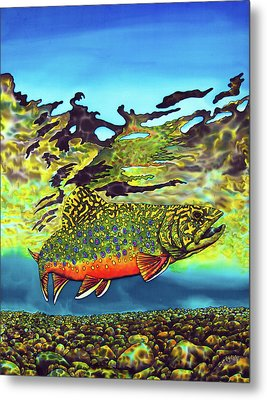 Brook Trout Metal Print by Daniel Jean-Baptiste