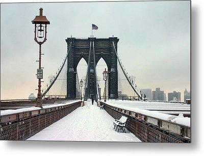 Brooklyn Bridge Metal Print by June Marie Sobrito