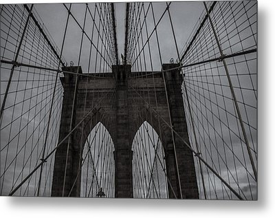Brooklyn Bridge Metal Print by Martin Newman