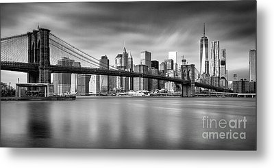 Brooklyn Bridge Panorama Metal Print by John Farnan