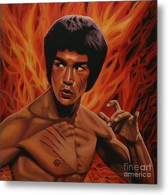 Bruce Lee Enter The Dragon Metal Print by Paul Meijering