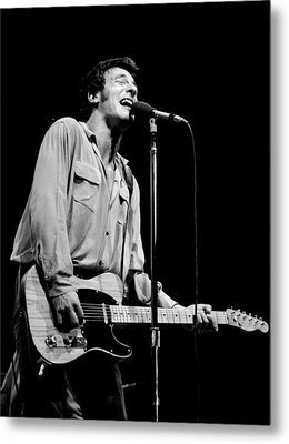 Bruce Springsteen 1981 Metal Print by Chris Walter