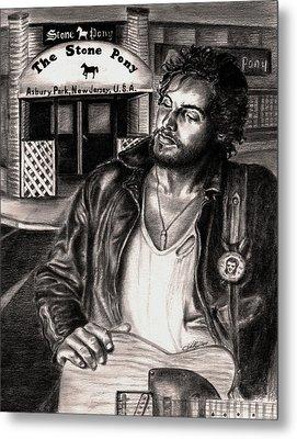 Bruce Springsteen Metal Print by Kathleen Kelly Thompson