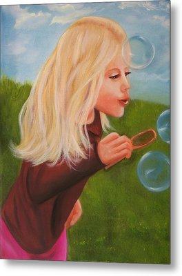 Bubbles Metal Print by Joni McPherson