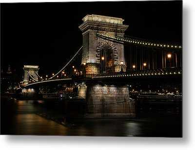 Metal Print featuring the photograph Budapest At Night. by Jaroslaw Blaminsky