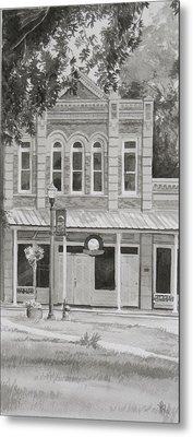 Building On The Square Metal Print by Karen Boudreaux