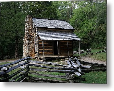 Cades Cabin Metal Print by Laurie Perry