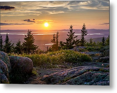 Cadillac Mountain Sunset  Metal Print by Trace Kittrell