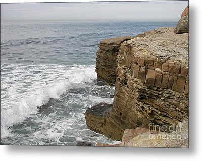 Metal Print featuring the photograph California Seascape by Carol  Bradley