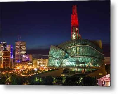 Canadian Museum For Human Rights Metal Print by Bryan Scott
