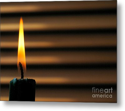 Candle Metal Print by Odon Czintos