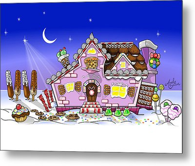 Candy House Metal Print by Andy Bauer