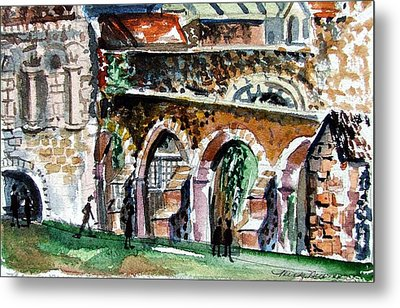 Canterbury England Cloisters Metal Print by Mindy Newman