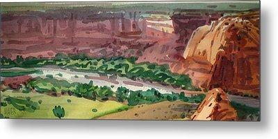 Canyon Panorama Metal Print by Donald Maier