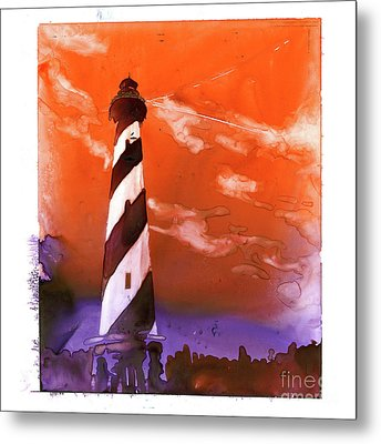 Metal Print featuring the painting Cape Hatteras Lighthouse by Ryan Fox