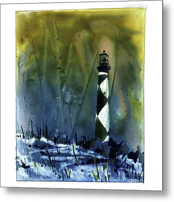 Metal Print featuring the mixed media Cape Lookout Lighthouse by Ryan Fox