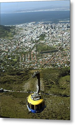 Capetown Cablecar Metal Print by Charles  Ridgway