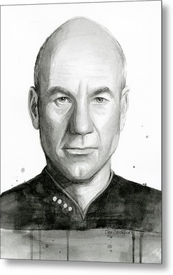 Captain Picard Metal Print