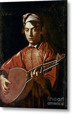 Caravaggio: Luteplayer Metal Print by Granger