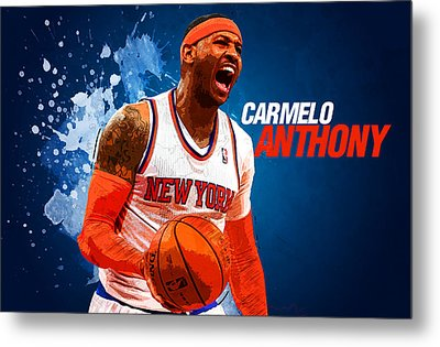 Carmelo Anthony Metal Print