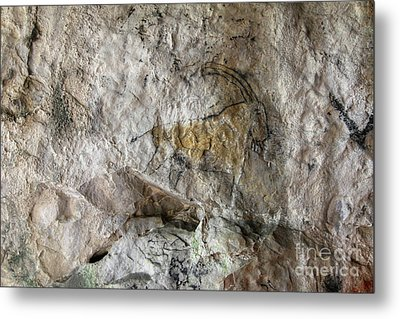 Cave Painting In Prehistoric Style Metal Print by Michal Boubin