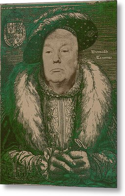 Celebrity Etchings - Donald Trump Metal Print by Serge Averbukh