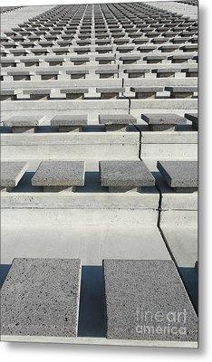 Cement Seats Metal Print by Gaspar Avila