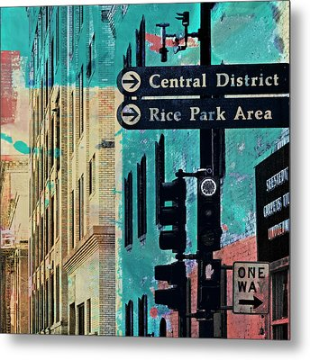 Metal Print featuring the photograph Central District by Susan Stone