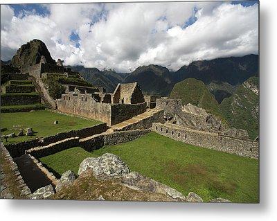 Central Plaza At Machu Picchu Metal Print by Aidan Moran