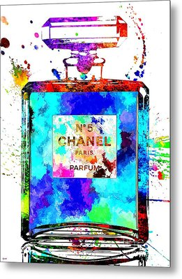 Chanel No. 5 Grunge Metal Print
