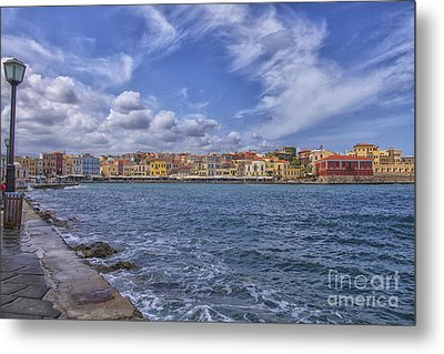 Chania On Crete In Greece Metal Print