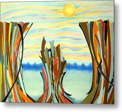 Chasm Metal Print by Sharon Blanchard