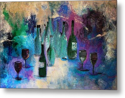 Metal Print featuring the painting Cheers by Lisa Kaiser