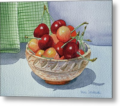 Cherries Metal Print by Irina Sztukowski
