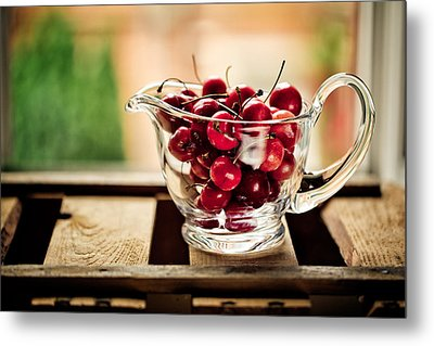 Cherries Metal Print by Nailia Schwarz