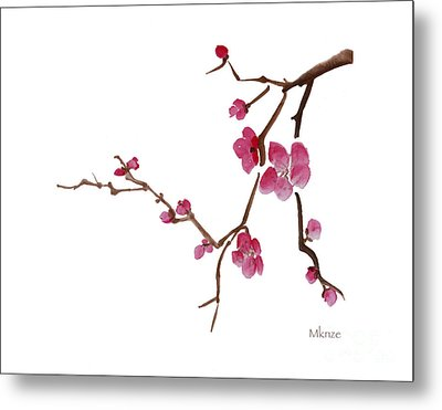 Cherry Blossoms 1d Metal Print by McKenzie Leopold