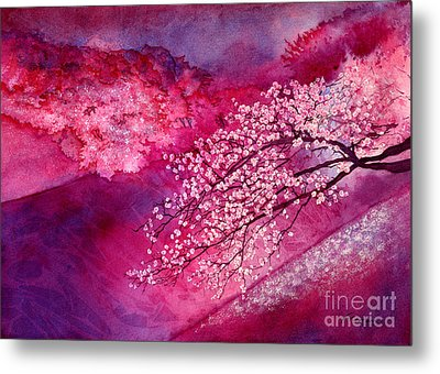 Metal Print featuring the painting Cherry Blossoms by Hailey E Herrera