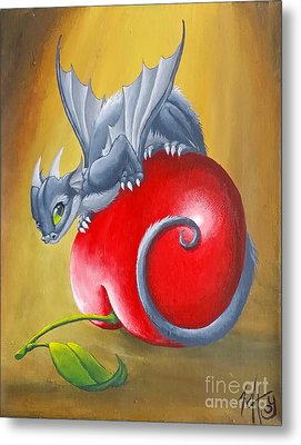 Cherry Dragon Metal Print