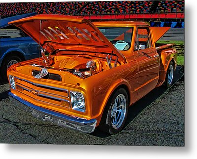 Chevy Stepside Metal Print by Victor Montgomery