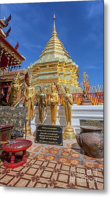 Chiang Mai Temple Metal Print by Adrian Evans