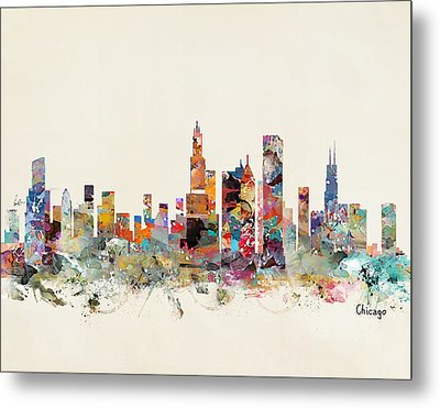 Chicago City Skyline Metal Print by Bri B