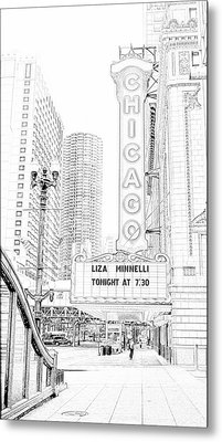 Chicago Theater Marquee Metal Print