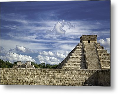 Chichen Itza, El Castillo Pyramid Metal Print by Jason Moynihan
