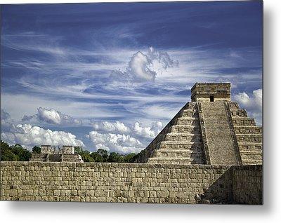 Chichen Itza, El Castillo Pyramid Metal Print