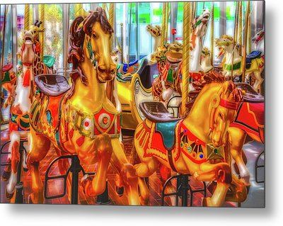 Childhood Carrousel Ride Metal Print by Garry Gay